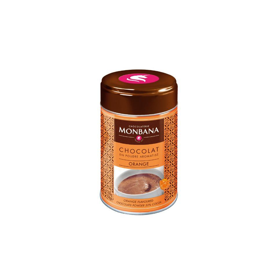 Chocolat en poudre aromatisé orange - Boite 250 g