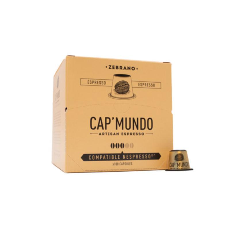 100 capsules compatibles Nespresso® - Zebrano